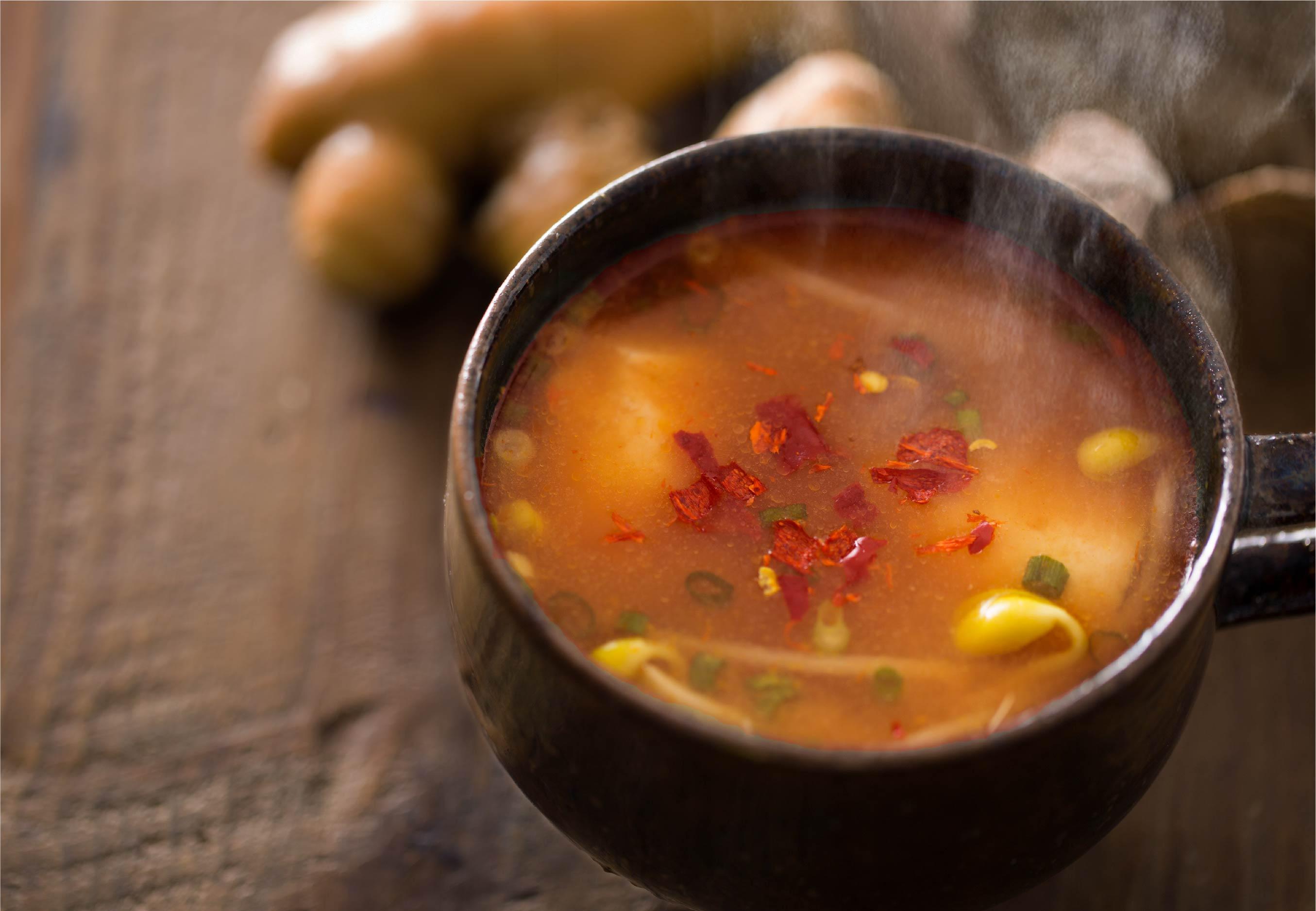 三十雑穀みそスープ