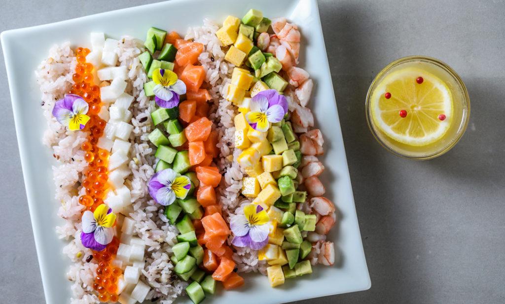 ひな祭りに!三十雑穀の簡単・華やか「コブちらし寿司」