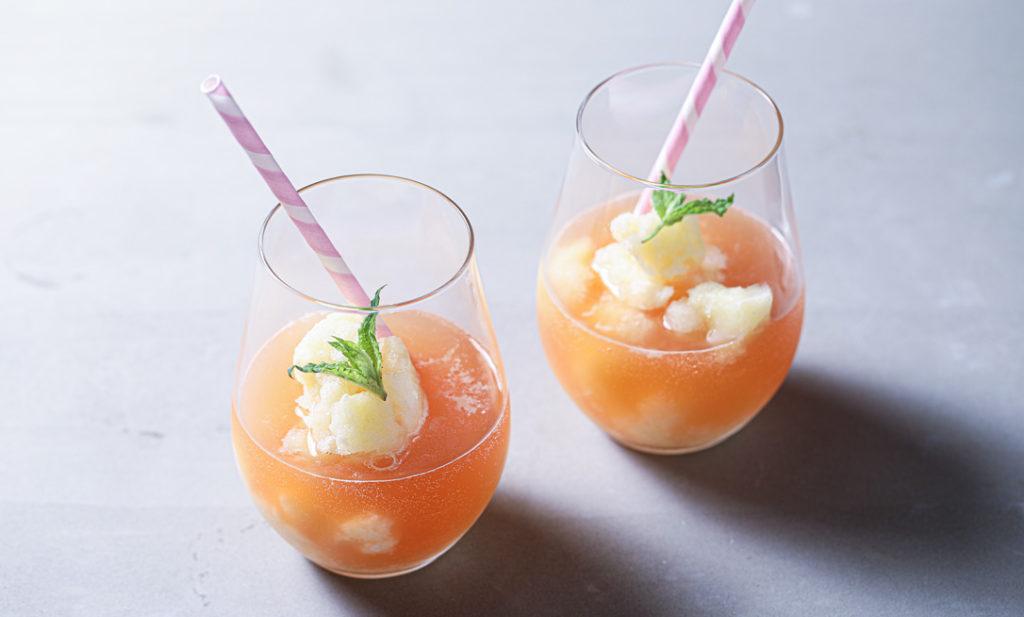 しあわせレシピ・第9回 蒸し暑さを吹き飛ばす!「桃と甘酒のエステスカッシュ」