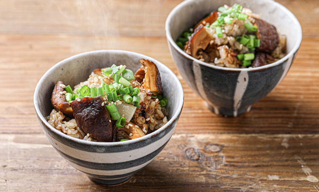 椎茸の炊き込みご飯