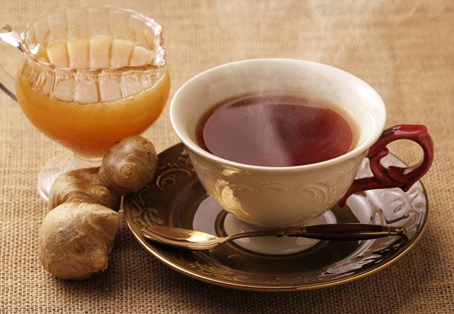 みらいのしょうがでつくる、生姜紅茶。