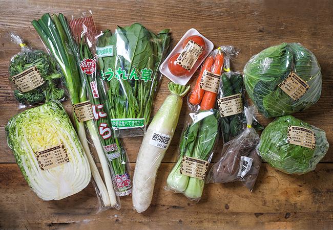 並べられた野菜