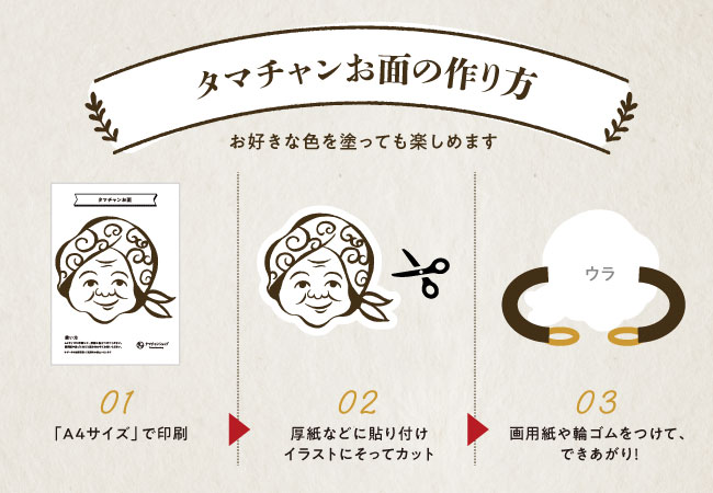 タマチャンお面の作り方